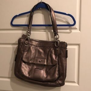 GUC Coach bronze shoulder bag purse
